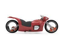 Future red bike isolated view. Isolated red bike side view over white background Stock Photo