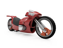 Future red bike isolated view. Isolated red bike front view over white background Royalty Free Stock Photos