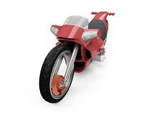 Future red bike isolated view. Isolated red bike front view over white background Royalty Free Stock Photography