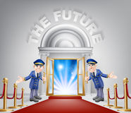 The Future Red Carpet Entrance Royalty Free Stock Images