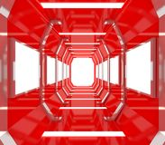 Future Red Empty Room Royalty Free Stock Photos
