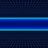 Future retro line background of the 80s. Vector futuristic synth retro wave illustration in 1980s posters style. Stock Image