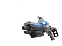 Future Rifle. Future prop rifle on a white background royalty free stock photo