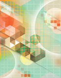 Future-Scape. Cool geometric background in green and orange Royalty Free Stock Photos