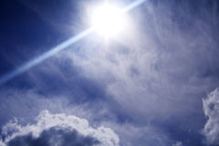 Future sky. Sun, sky and clouds in spring Stock Photography