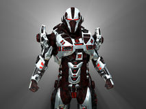 Future soldier. 3d render of advanced cyborg soldier Stock Images