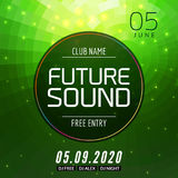 Future sound music party template, dance party flyer, brochure. Party club creative banner or poster for DJ Royalty Free Stock Photos
