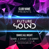 Future sound Party Template, Dance Party Flyer, brochure. Night Party Club Banner Poster. Future sound Party Template, Dance Party Flyer, brochure. Night Party stock illustration