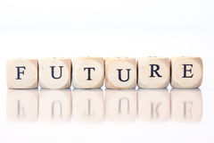 Free Future, Spelled With Dice Letters Stock Photo - 45866190