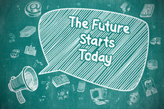 The Future Starts Today - Business Concept. Stock Image