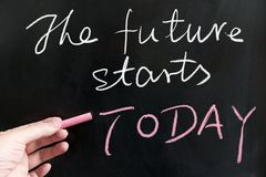 The future starts today Stock Images