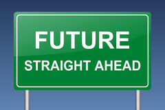 Future straight ahead Royalty Free Stock Image