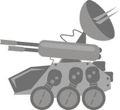 Future Tank. Illustration of future tank for game Stock Photo