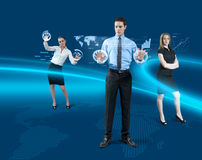 Future teamwork concept Royalty Free Stock Images