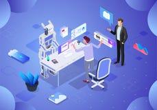 Future technologie d'illustration d'intelligence artificielle illustration stock