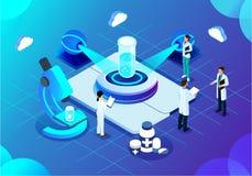 Future technologie d'illustration d'intelligence artificielle illustration de vecteur