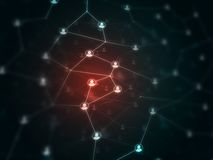 Future technologie - filets et communucation globaux - mise en réseau Images stock