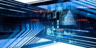 Future technologie, fond d'écran numérique illustration libre de droits