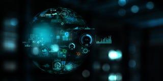 Future technologie, panneau d'écran numérique illustration libre de droits