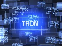 Cryptocurrency Tron stock illustration