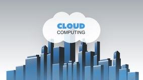 Smart City, Cloud Computing royalty free stock image