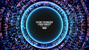 Future Technology Cyber Concept Background. Abstract Hi Speed Digital Design. Security Network Backdrop. Vector Royalty Free Stock Photo