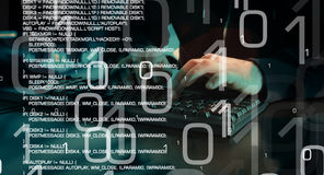 Future of technology, cyber hacker attack Stock Images