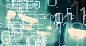 Future of technology, cyber war background Stock Photo