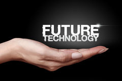 Future technology. Hand showing the Future Technology icon Stock Photography