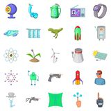 Future technology icons set, cartoon style. Future technology icons set. Cartoon set of 25 future technology vector icons for web isolated on white background Stock Photo