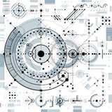 Future technology vector drawing, industrial wallpaper. Graphic Stock Photos