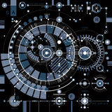 Future technology vector drawing, industrial wallpaper. Graphic Stock Images