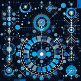 Future technology vector drawing, industrial wallpaper. Graphic Royalty Free Stock Image
