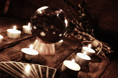 Future teller candle divination Stock Images
