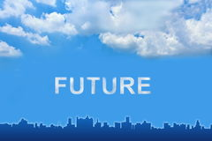 Future text on clouds Stock Photography