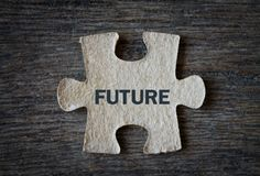 Future text on puzzle. Stock Photography