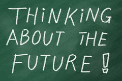 Future Thinking. Start thinking about the future, goals in life and career royalty free stock image