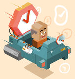 Future time machine. Illustration Stock Photo