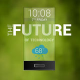 The future transparent cell phone vector Royalty Free Stock Photo