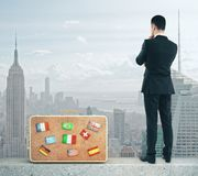 Future and travel concept Royalty Free Stock Photo