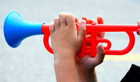 Future trumpet player. Stock Photography