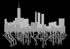 Future urban city. Creative design of big future city Royalty Free Stock Image