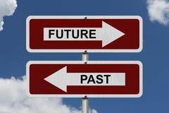 Future versus Past Stock Photo