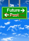 Future versus past road sign concept Royalty Free Stock Photos