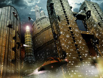 Future ville illustration stock