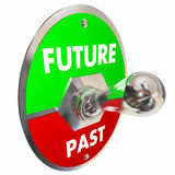 Future Vs Past Toggle Switch Yesterday Today Tomorrow 3d Illustration royalty free illustration