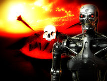 Future War. An image of a futuristic war involving androids Royalty Free Stock Photo