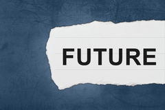 Future with white paper tears royalty free stock image