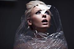 Future woman. Photo of a beautiful future woman Stock Image