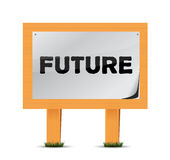 Future wood sign illustration design Stock Photos